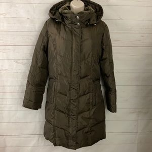 Michael Kors Sz PL Down Filled Brown Puffer Coat